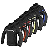 ALPHA CYCLE GEAR BREATHABLE BIKERS RIDING PROTECTION MOTORCYCLE JACKET MESH CE ARMORED (BLACK WIND, XXXX-LARGE)