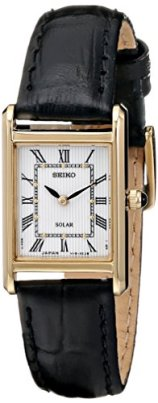 Seiko Women's SUP250 Stainless Steel Watch with Black Band