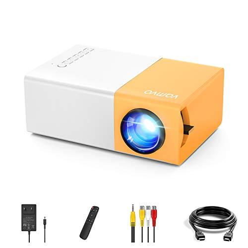 Mini videoprojecteur Vamvo YG300 Pro LED vidéoprojecteur, Portable Movie Retroprojecteur Soutenir 1080p, Cadeau Les Enfants, Compatible avec Smartphone / PS4 / Firestick