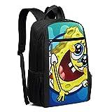 Travel Laptop Backpack Happy Spongebob Squarepants College School Bookbag Computer Bag Casual Daypack For Women Men