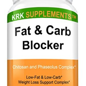 1 Bottle Fat and Carb Blocker with Phaseolus Vulgaris (White Kidney Bean Extract) Chitosan Extreme Diet Pills Weight Loss 90 Capsules KRK Supplements 5 - My Weight Loss Today
