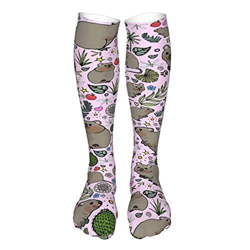 Quokka - Calzini sportivi da festa, traspiranti, alla moda, al polpaccio, lunghezza al ginocchio, calze casual
