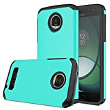Moto Z Play Case, Venoro [Shockproof] Slim Hybrid Dual Layer Armor Defender Rugged Protective Case Cover for Motorola Moto Z Play/Moto Z Play Droid (Mint)