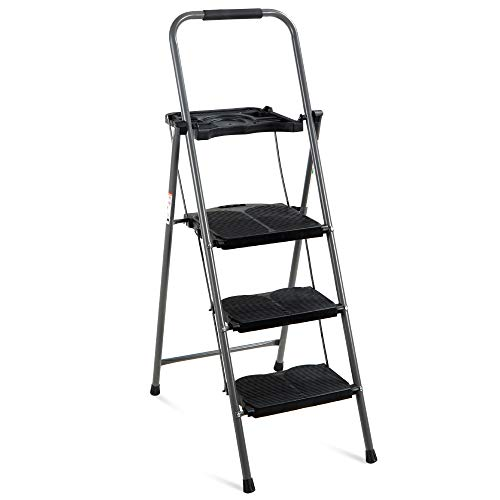 Best Choice Products 3-Step Ladder, Portable...