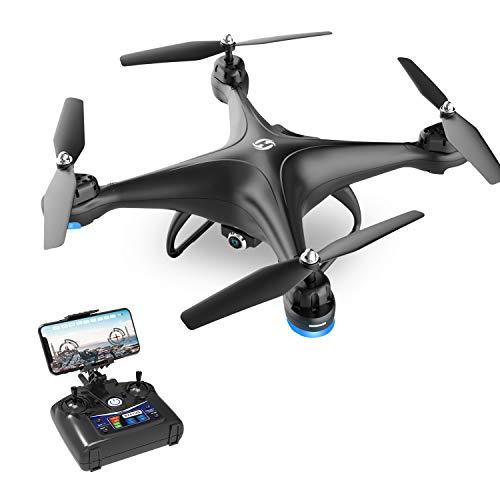Holy Stone HS110D Drone con Telecamera FPV 1080P RC HD Video dal Vivo con Grandangolare da 120 WiFi Quadricottero con Mantenimento dellAltitudine e modalit Senza Testa Giri 3D RTF