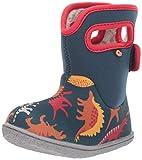 BOGS baby girls Bogs Waterproof Insulated Rain Boot, Dino - Indigo Multi, 7 Infant US
