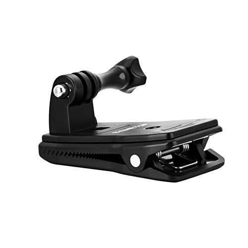 Sametop Supporto Clip Veloce di Zaino Compatibile con Gopro Hero 9, 8, 7, 6, 5, 4, Session, 3+, 3, 2, 1, Max, Fusion, Hero (2018)