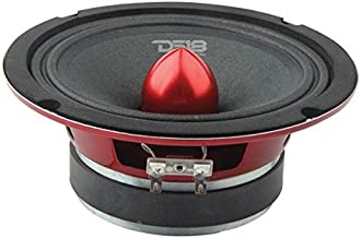 "DS18 PRO-X6.4BM Loudspeaker – 6.5"", Midrange, Red Aluminum Bullet, 500W Max,.."