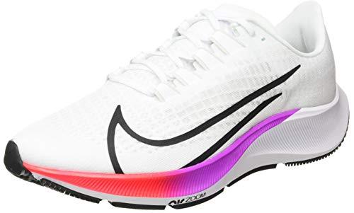 Nike Herren AIR Zoom Pegasus 37 Laufschuh, White Flash Crimson Hyper Violet Spruce Aura Vapor Green Black, 44.5 EU