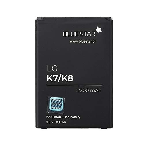 Blue Star Premium - Batería de Li-Ion litio 2200 mAh de Capacidad Carga Rapida 2.0 Compatible con el LG K7 / K8