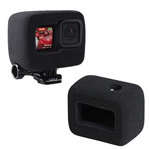 HSU - Custodia in schiuma Windslayer per GoPro Hero 9, colore nero, Windslayer di protezione per la riduzione del rumore del parabrezza, per registrazione audio video all'aperto