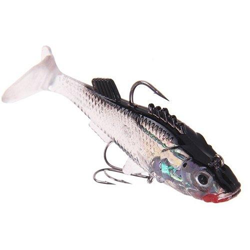 Longyitrade - Esca da pesca artificiale, 7,6 cm, in PVC, durevole, per spigola, trota, gamba, crank, Multi-coloured