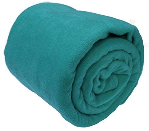 A-Express Grande Suave Caliente Franela Manta Polar la Cama sofá Coche Viaje Mantas - Verde Azulado 125cm x 150cm