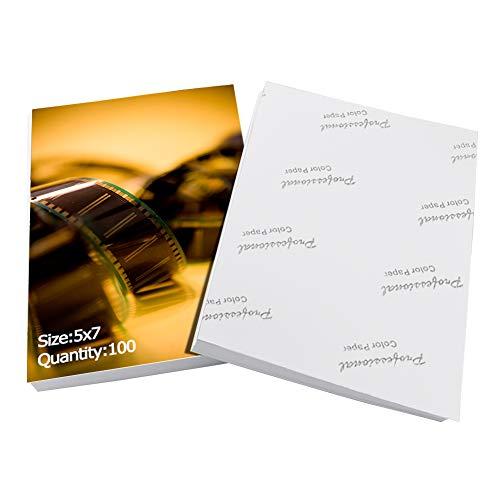 Eono Essentials Fotopapier glänzend 13x18 für Tintenstrahldrucker, 200g/m², Weiß, 100 Blatt
