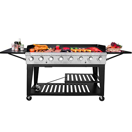 Product Image 2: Royal Gourmet GB8000 8-Burner Liquid Propane Event Gas Grill, BBQ, Picnic, or Camping Outdoor, Black