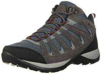 Columbia Men's Redmond V2 MID Waterproof Hiking Shoe, Graphite, red Jasper, 10.5 Regular US