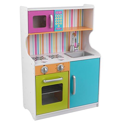 KidKraft 53378 Cucina Giocattolo in Legno per Bambini Bright Toddler - Colori Vivaci