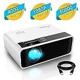 Mini Projecteur, ELEPHAS LED Videoprojecteur Portable Vidéo 1080P Supporté Rétroprojecteur HD...