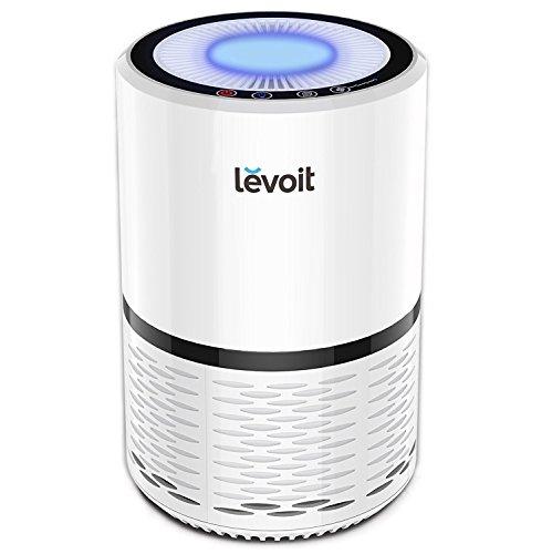 Levoit Luftreiniger Air Purifier mit HEPA-Kombifilter & Aktivkohlefilter, 3-Stufen-Filterung für 99,97{b52d0e731470c7341c955ddeb5db769235585eac7822a499f5e15a857a53cc41} Filterleistung und Nachtlicht, gegen Staub Pollen Tierhaare, für Allergiker Raucher, LV-H132