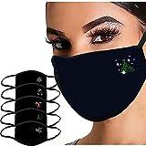 Lulupi Mundschutz Weihnachtsmaske 3D Weihnachten Waschbar Maske Baumwolle Stoff Mund-Nasenschutz Nasenclips Atmungsaktiv Stoffmaske Alltagsmaske Weihnachtsmotiv Multifunktionstuch Halstuch
