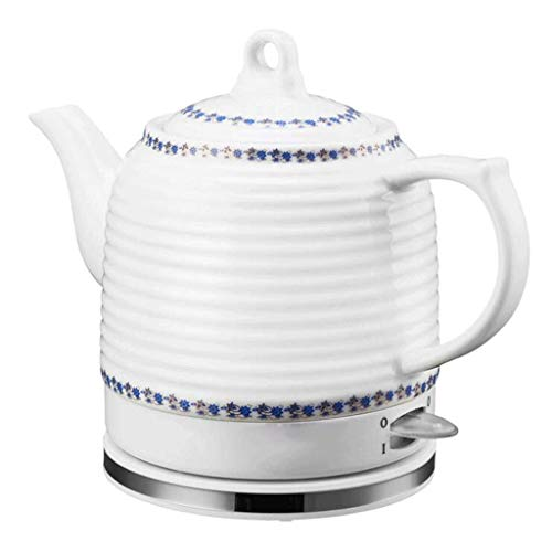 YSkettle Wasserkocher blau und weiß Porzellan Abnehmbare Basis Kochen trocken Schutz (einfach) kocht Wasser schnell für Tee Kaffee Suppe Haferflocken 1.2L