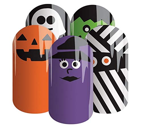 SCREAM TEAM - Jamberry Lacquer Strips - Quick & Easy Halloween Nails