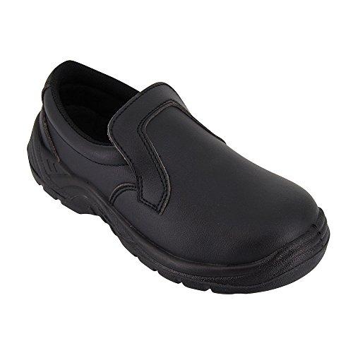 Zapatos para Cocina, Negro, de Trabajo, Uso agroalimentario, con Funda Protectora ISO20346, Disponible en Varias Tallas Disponibles - 38 EU