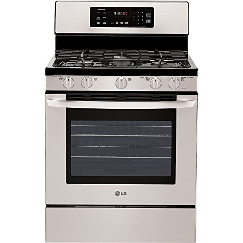 LG LRG3093ST 30' Freestanding Gas Range, 5 Sealed Burner...