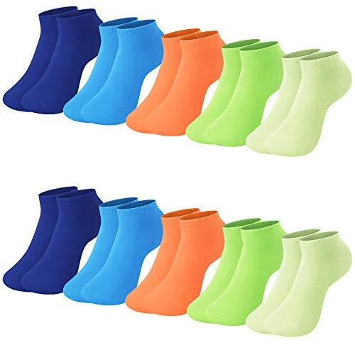 L&K 10 Paia II Calze da Uomo Donna Sportive Sneaker Calzini Cotone Comodo Unisex 2102 39-42