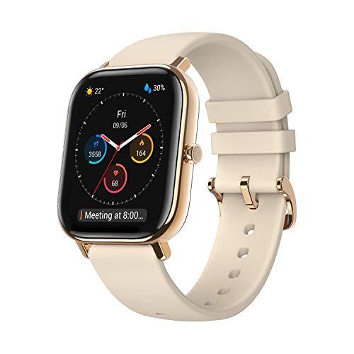 Amazfit GTS Reloj Smartwactch Deportivo | 14 días Batería | GPS+Glonass | Sensor Seguimiento Biológico BioTracker™ PPG | Frecuencia Cardíaca | Natación | Bluetooth 5.0 (iOS & Android) GOLD