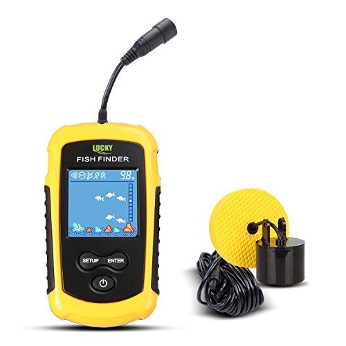 CHSEEO Fishfinder Cercatori dei Pesci Allarme Wired Fish Finder Sensore Sonar Trasduttore Ecoscandaglio Portatile Allarme Deeper profondit Finder per Ghiaccio/Mare/Fiume #1