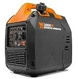 WEN 56203i Super Quiet 2000-Watt Portable Inverter Generator w/Fuel Shut Off, CARB Compliant, Ultra Lightweight