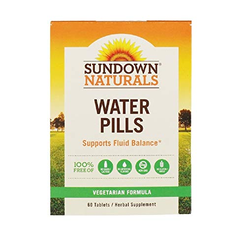 Sundown Natural Water Pills Herbal Supplement Tablets, 60-Count Package (Pack of 4)