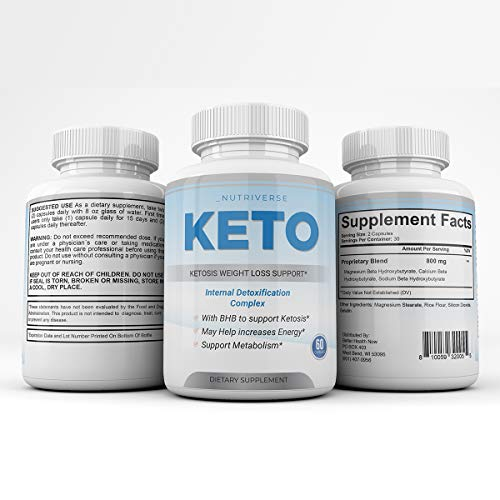 Nutriverse Keto - Ketosis Weight Loss Support - Intenal Detoxificatino Complex - 30 Day Supply 5