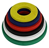 CFF Competition Rubber Fractional Weight Plates - 12.5 Lb Set w/ .25, .5, .75, 1, 1.25, & 2.5 Lb. Pairs