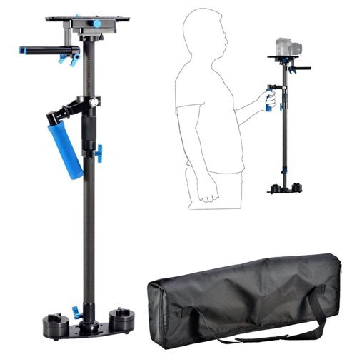 Morros Carbon Fiber Camera Video Stabilizer with min length 70cm and max length 120cm with quick release for DSLR and Video Cameras