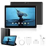 2020 Tablette Tactile 10 Pouces 4G Call FHD - 3Go RAM 32/128Go ROM Android 9.0 Tablet PC Quad Core Batterie 8500mAh Double SIM Double Caméra WiFi,Bluetooth,GPS,OTG(Noir)