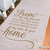 from This Day Forward Wedding Aisle Runner (100 ft) Perfect for Indoor, Outdoor, Beach Weddings