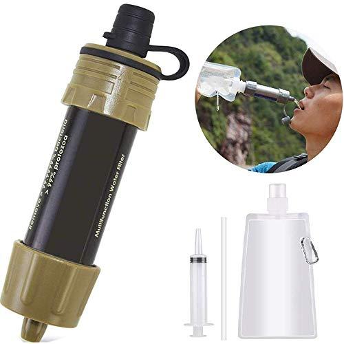 Lixada Filtro de Agua Portátil Sistema de Filtración de Agua Mini...