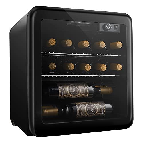 Cantinetta Vino 46L Cantinette Vino da 16 Bottiglie con Temperatura Regolabile 4-16C Cantina Vino Refrigerata Cantinetta Frigo Vino Cantina per Vino Cantina Frigo per Vino Cantinetta Vini