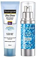 Product 1: Neutrogena Ultra Sheer Dry Touch Sunblock, SPF 50+ sunscreen for men and women Product 1: Broad spectrum SPF 50+ protection against UVA UVB rays Product 1: Dermatologist Tested, Oil-free and Non-Comedogenic Product 1: Ultra-Light with a no...