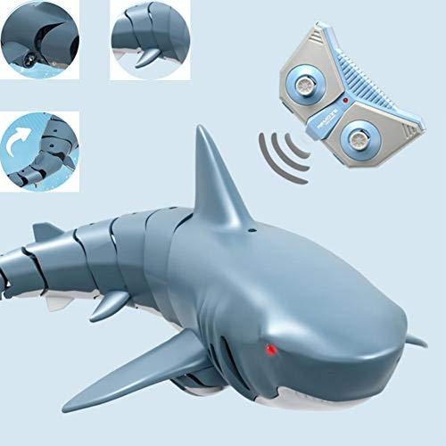 RC Boot Haifisch Spielzeug für Erwachsene, 2.4G ferngesteuertes elektrisches Rennboot für Pools mit Simulations-Haifisch-Spoof-Spielzeug, für Poolteichdekoration oder Partyspielzeug-Partygeschenke