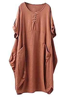 High Low Hem Loose Swing Midi Dress,Casual Shift Dress, midi dress, dresses for women with pockets Lantern design makes layers a particularly effective, linen women loose midi dress, linen clothing for women Nice for casual daily wear, relaxed holida...