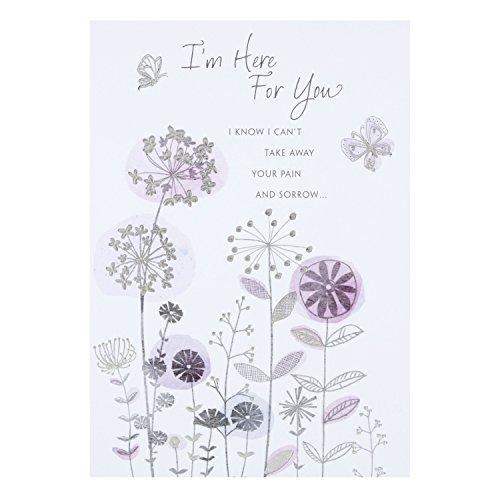 """Hallmark-Biglietto di condoglianze con scritta""""Thoughts Are With You"""", misura media Here For You"""