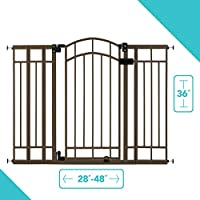 """ACCOMODATES MOST OPENINGS: The Summer Multi-Use Decorative Extra Tall Walk-Thru Gate for Baby can be used between doorways and stairways. The 36"""" tall baby gate fits openings up 28"""" to 48"""" wide. EASY INSTALLATION: Easily install this baby gate on sta..."""