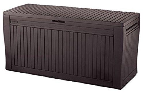 Keter - Comfy, Cassapanca per Esterni, Ideale per Tenere in Ordine, 270l, 117x 9x 53cm