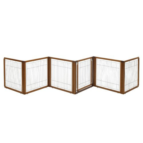 Richell 3-in-1 Convertible Elite Pet Gate, 6-Panel