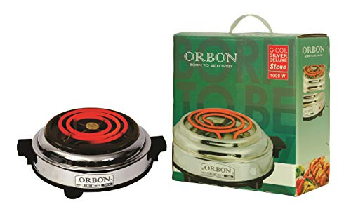 WORKS WITH ALL KIND OF COOKWARES: ORBON G Coil Electrical Cooktop Can Be Used With All Metal Utensils. FAST HEATING & MULTIPURPOSE: This Electric Coil Stove Has Much More Fast Heating As Compare To Regular LPG Gas Stoves, Thus Reducing Cooking Time. ...