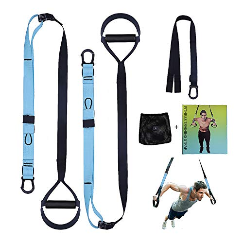 Anoopsyche Suspension Training Fitness Pro Suspension Trainer Exercise Adjustable Straps Load up to 500 Kg