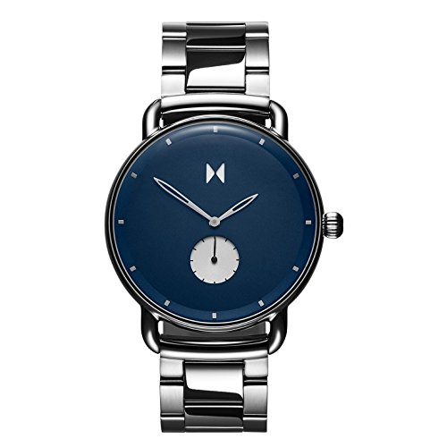 MVMT Herren Analog Quarz Armbanduhr mit Edelstahlarmband D-MR01-BLUS